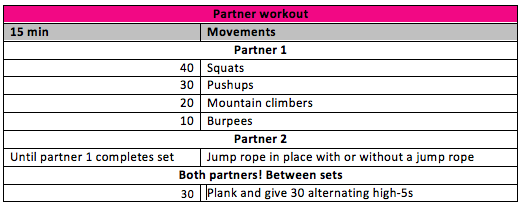 Fab Fit Chicago Partner workout