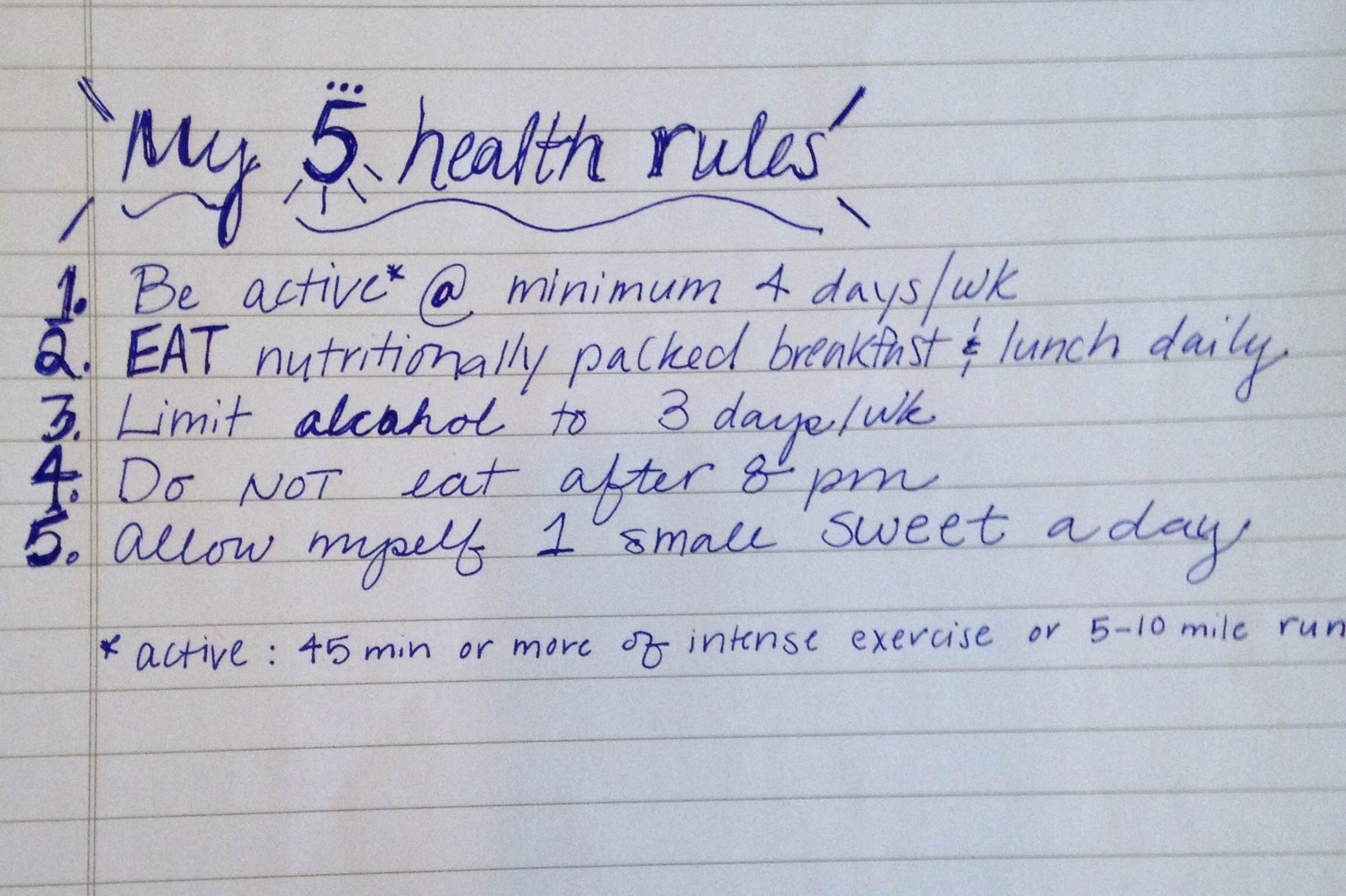 5 rules for healthy eating