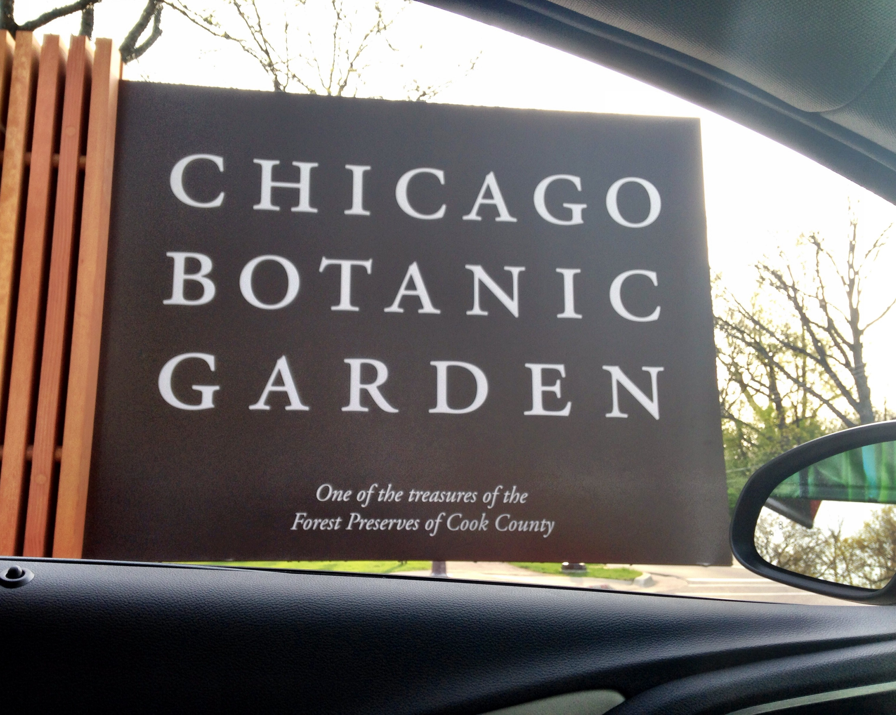 Chicago Botanic Garden sign