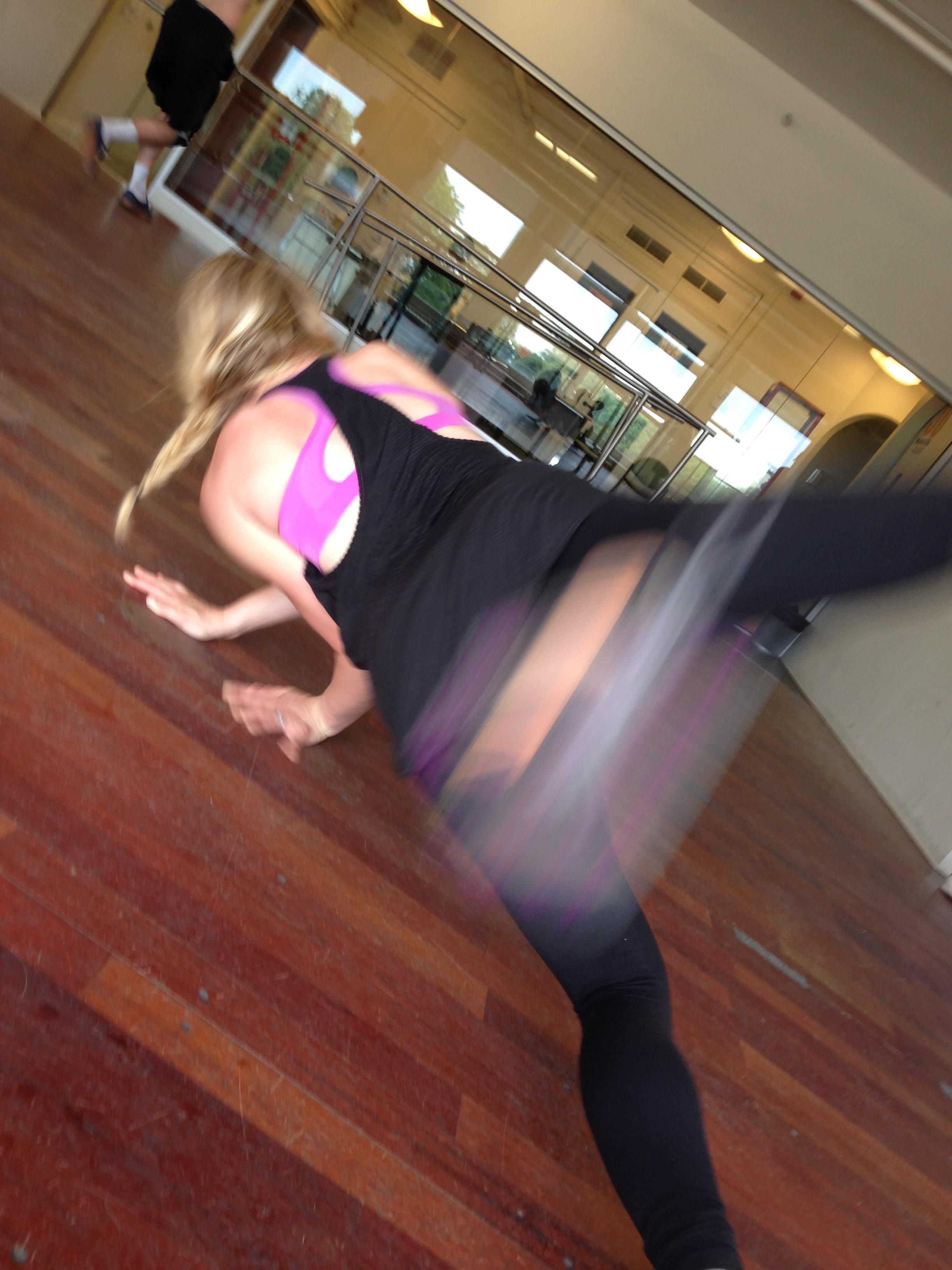 break dancing class in Chicago falling asweatlife fabfitchicago